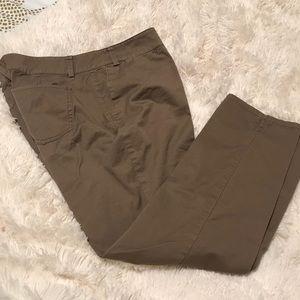 Tan straight leg pants